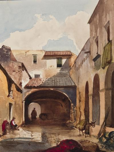 Passage and Street with Figures-Giacinto Gigante-Giclee Print