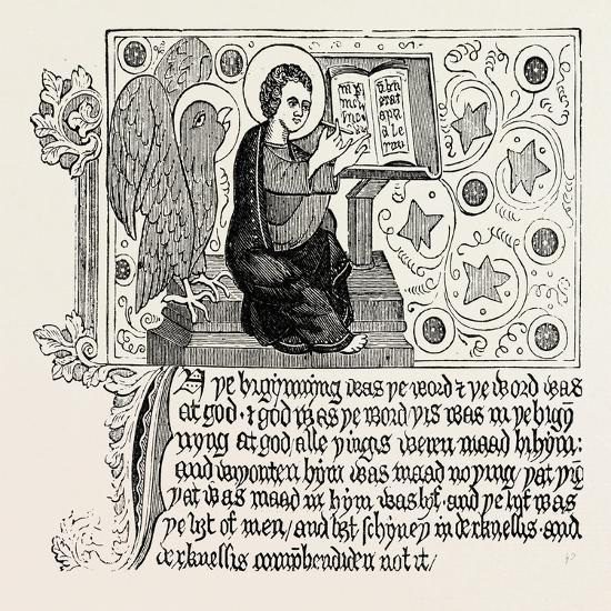 Passage from the First English Bible: Gospel of St. John Ch. I--Giclee Print
