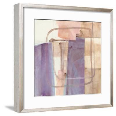 Passage I Blush Purple-Mike Schick-Framed Art Print