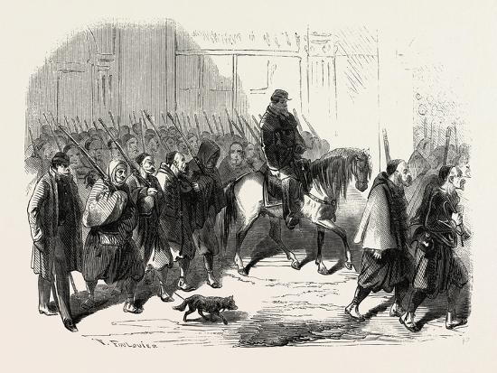 Passage, Lyon, Zouaves, Returning from Crimea, France, 1855.--Giclee Print