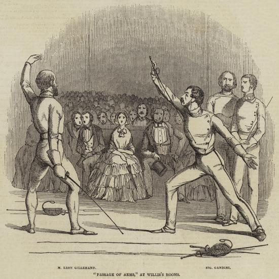 Passage of Arms, at Willis's Rooms--Giclee Print