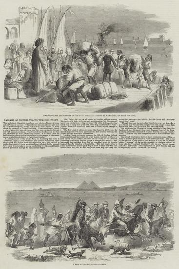Passage of British Troops Through Egypt--Giclee Print