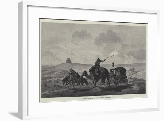 Passage of Quicksands in the Desert of Central Asia--Framed Giclee Print