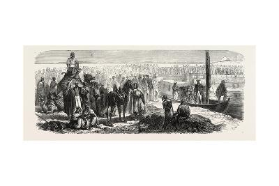 Passage of the First Vessel Through the Suez Canal, 1865--Giclee Print
