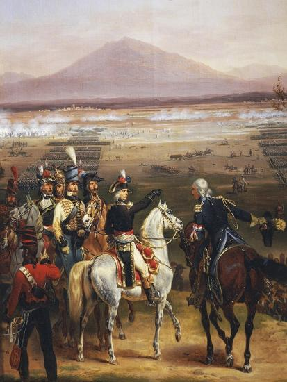Passage of the Tagliamento in Front of Valvasone Led by General Napoleon Bonaparte-Hippolyte Lecomte-Giclee Print