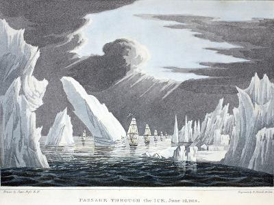 Passage Through the Ice, 16th June 1818, Illustration from 'A Voyage of Discovery...', 1819-John Ross-Giclee Print