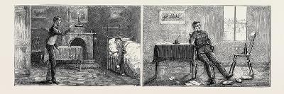 Passages in the Life of a Subaltern: Left Image: Annoying Going to Bed Very Tired to Find Your Serv--Giclee Print