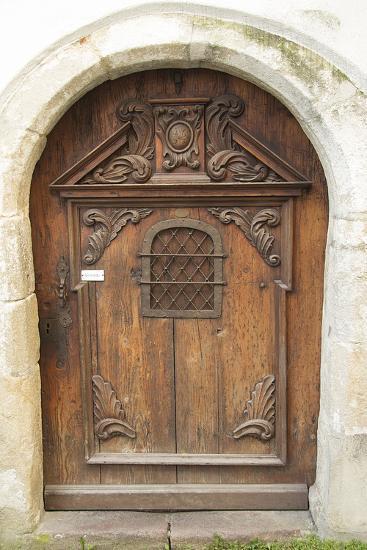 Passau Wood Door-George Johnson-Photographic Print