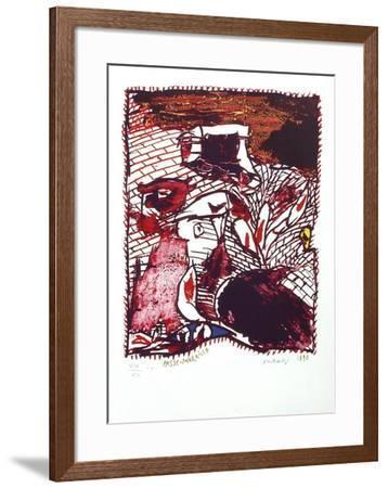 Passe-muraille-Pierre Alechinsky-Framed Premium Edition