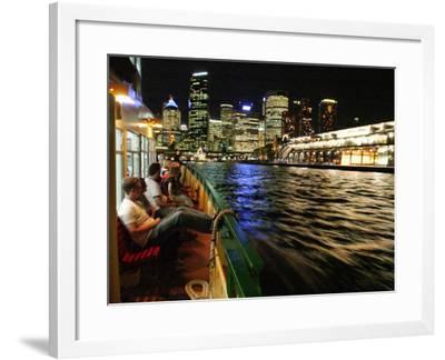 Passenger Ferry in Circular Quay, Sydney, Australia-David Wall-Framed Photographic Print