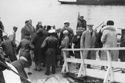 Passenger Ship Bethed at Molde, Norway, 1929--Photographic Print
