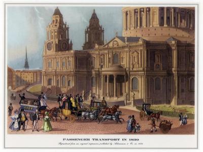 Passenger Transport in 1830--Giclee Print