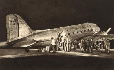 Passengers Boardng American Airlines