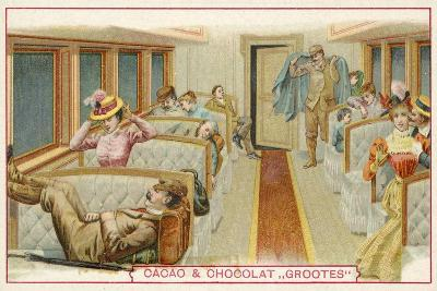 Passengers in a Railway Carriage--Giclee Print