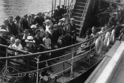 Passengers on Board a Boat, Bournemouth, Dorset, 1921--Giclee Print