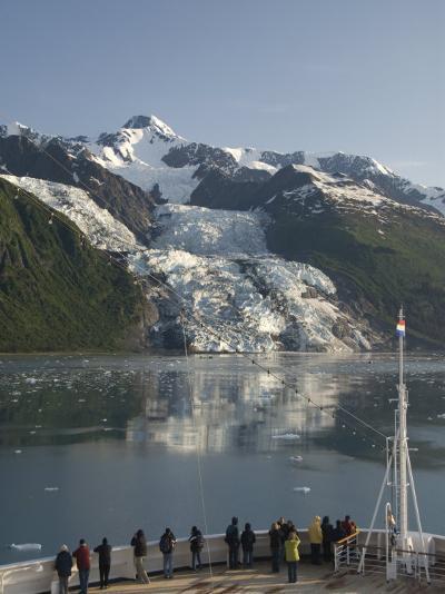 Passengers on Cruise Ship Viewing the Vasser Glacier, College Fjord, Inside Passage, Alaska-Richard Maschmeyer-Photographic Print