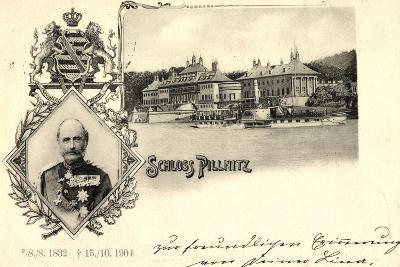 Passepartout K?nig Friedrich August, Schloss Pillnitz--Giclee Print