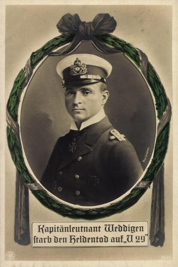 Passepartout Kapitänleutnant Weddigen, U 29, Heldentod--Giclee Print