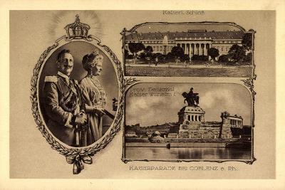 Passepartout Koblenz, Kaiserparade, Schloss--Giclee Print