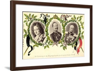 Passepartout Königreich Preußen, Wilhelm, Friedrich--Framed Giclee Print