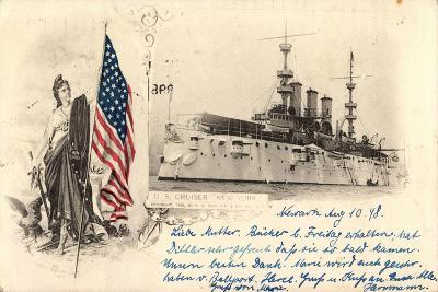 Passepartout Kriegsschiffe USA, U.S. Cruiser New York--Giclee Print