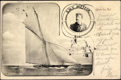 Passepartout S.M.Y Meteor, Kaiser Wilhelm II, Yacht--Giclee Print