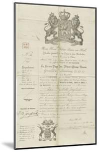 Passeport de Jongkind à Rotterdam le 9 Mars 1860