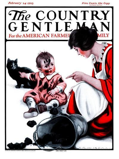 """Passing the Blame,"" Country Gentleman Cover, February 24, 1923-Katherine R^ Wireman-Giclee Print"