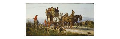 Passing the Hunt-George Wright-Premium Giclee Print