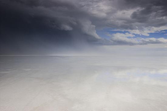 Passing Thunderstorm over Bonneville Salt Flats, Utah-Judith Zimmerman-Photographic Print