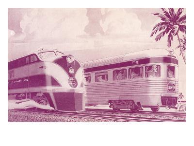 Passing Trains--Art Print
