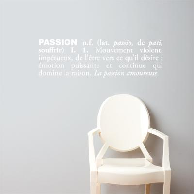Passion (french) Wall Decal--Wall Decal