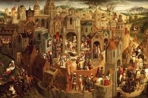 Passion of Christ, 1471, by Hans Memling (Circa 1430-1494), Oil on Panel, 57X92 Cm