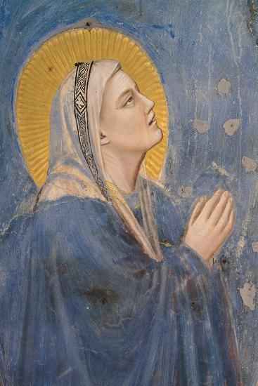 Passion, The Ascension, Detail of Virgin Mary-Giotto di Bondone-Art Print