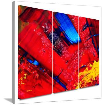 Passionate Explosion 3 piece gallery-wrapped canvas-Byron May-Gallery Wrapped Canvas Set