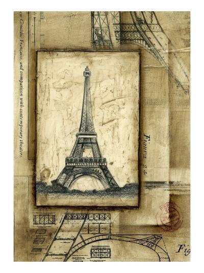 Passport to Eiffel-Ethan Harper-Art Print