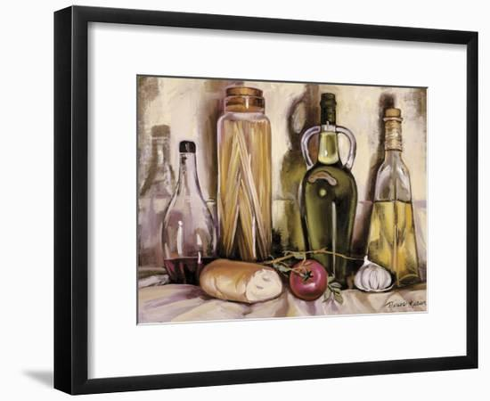 Pasta and Olive Oil-Theresa Kasun-Framed Art Print