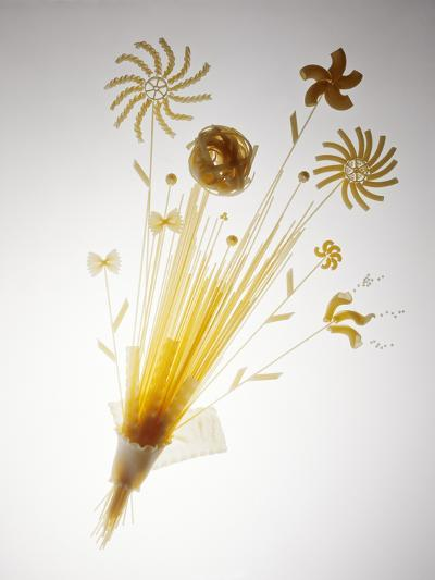 Pasta Arranged In the Shape of a Flower-Veronique Leplat-Photographic Print