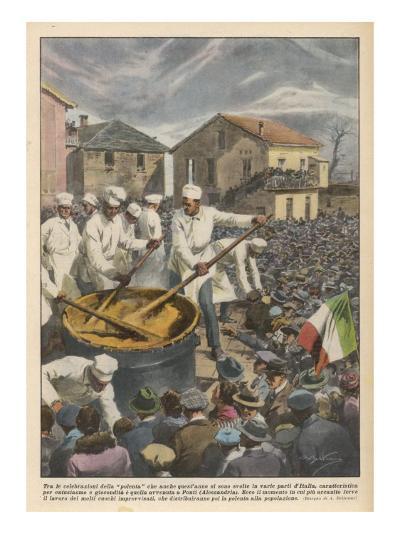 Pasta, The Annual 'Festa Di Polenta' at Ponti, Italy--Giclee Print