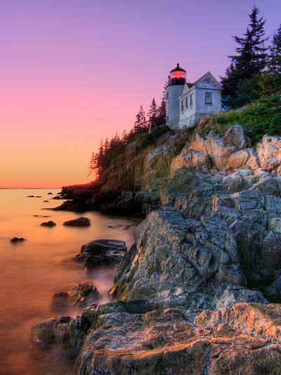 Pastel Bass Harbor Lighthouse-Kevin A Scherer-Photographic Print