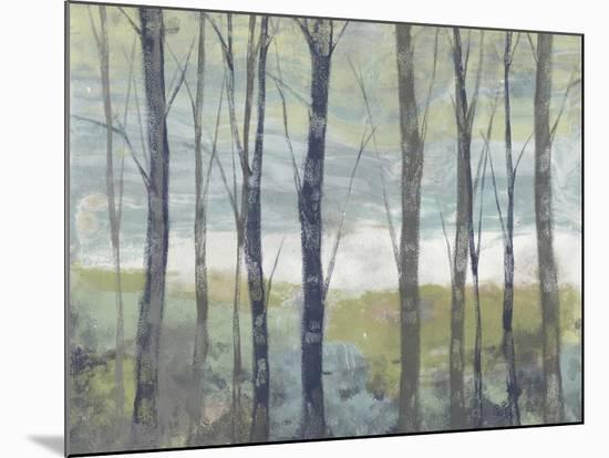 Pastel Birches I-Jennifer Goldberger-Mounted Art Print