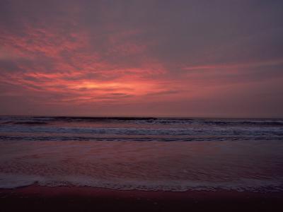 Pastel Clouds Color the Atlantic Surf-James P^ Blair-Photographic Print