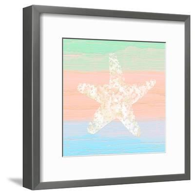 Pastel Coastal 3-Alonza Saunders-Framed Art Print