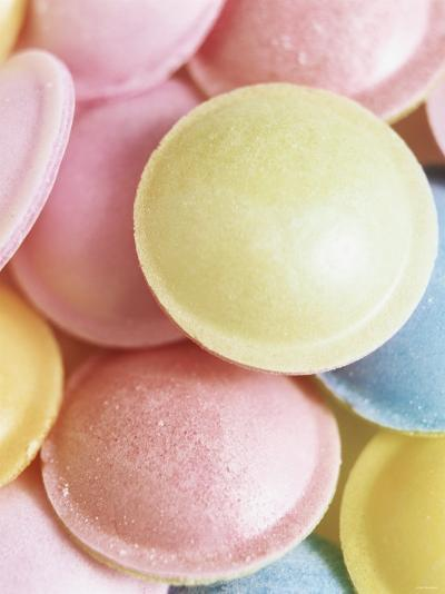 Pastel-Coloured Flying Saucers-Sam Stowell-Photographic Print