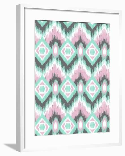 Pastel Ikat-Joanne Paynter Design-Framed Giclee Print