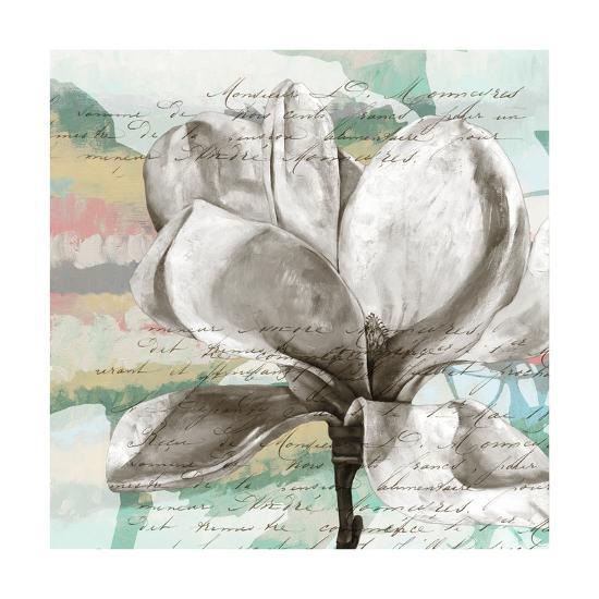 Pastel Magnolias I-Jennifer Goldberger-Art Print