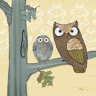 Pastel Owls IV-Paul Brent-Art Print