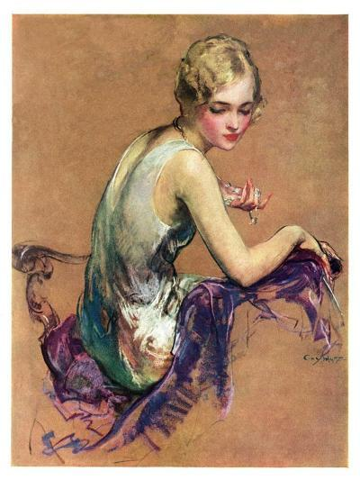 """Pastel Portrait,""January 24, 1931-Guy Hoff-Giclee Print"