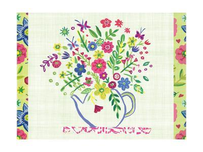 Pastel Summer Florals I-Farida Zaman-Art Print