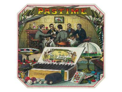 Pastime Brand Cigar Outer Box Label-Lantern Press-Art Print